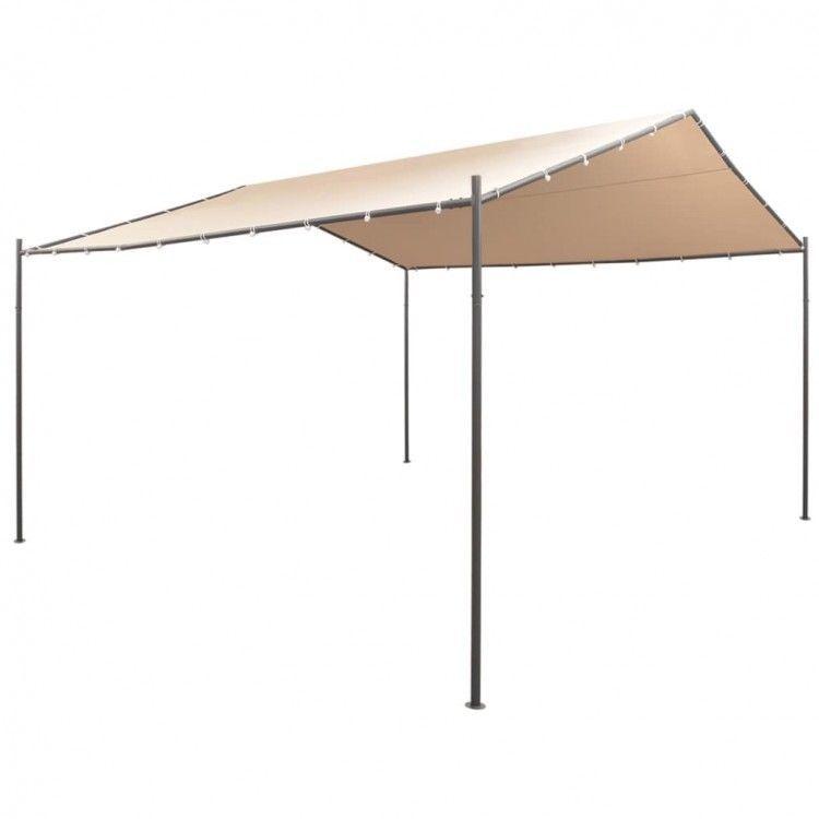 Gazebo Pavilion Beige Tent Outdoor Steel Canopy Camping Awning Garden Sunshade 829377415862 Ebay Gazebo Large Gazebo Canopy Tent