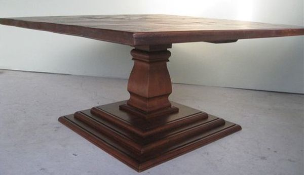 20 Surprising Square Wooden Pedestal Table Bases Home Design Lover Square Wood Dining Tables Wood Pedestal Table Base Pedestal Table Base