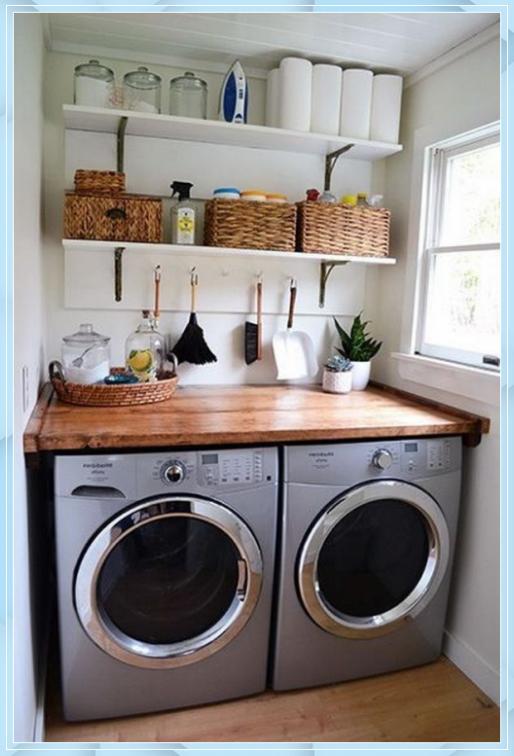 Ideen Fur Kleine Waschkuchen Wohnaccessoires Blog 3 3d Bodenbelag Wohnzimmer Blo In 2020 Laundry Room Storage Laundry Room Diy Laundry Room Organization Storage