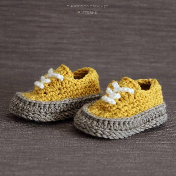 Patron de crochet zapatitos bebe Classic | bebes | Pinterest ...