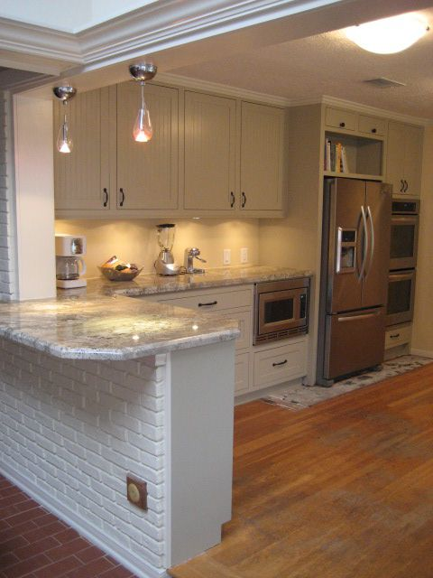 Internal Knock Through Between Kitchen And Dining Room: Great Idea For Knocking Down The Random Half-wAll And