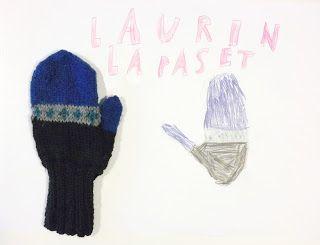 My 8-year old son designed mittens fo himself  kaksneljaseitteman.blogspot.fi