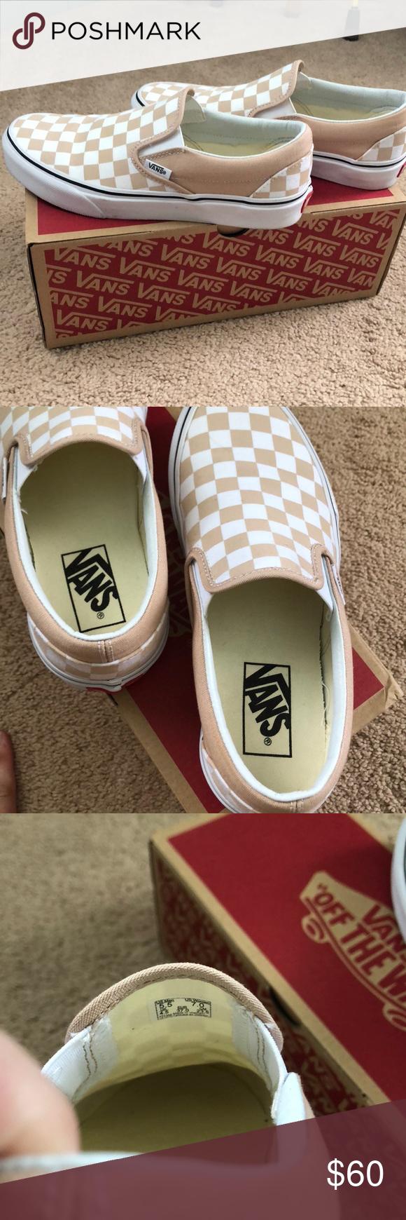 Vans checkerboard slip on Frappe/true