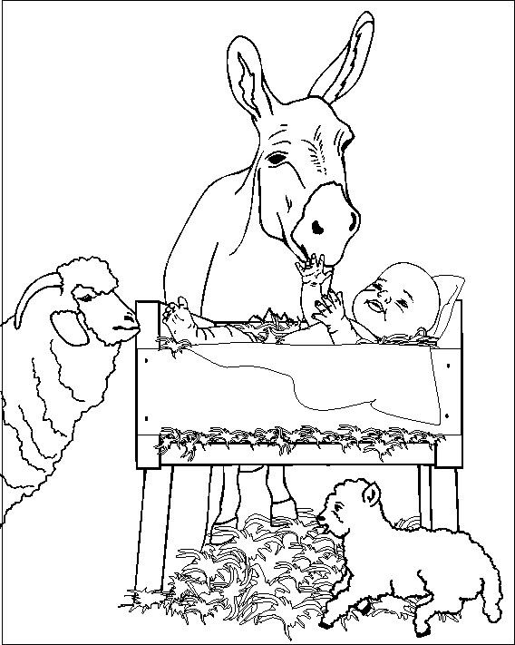 mary and baby jesus coloring page | Baby Jesus Coloring Pages ...