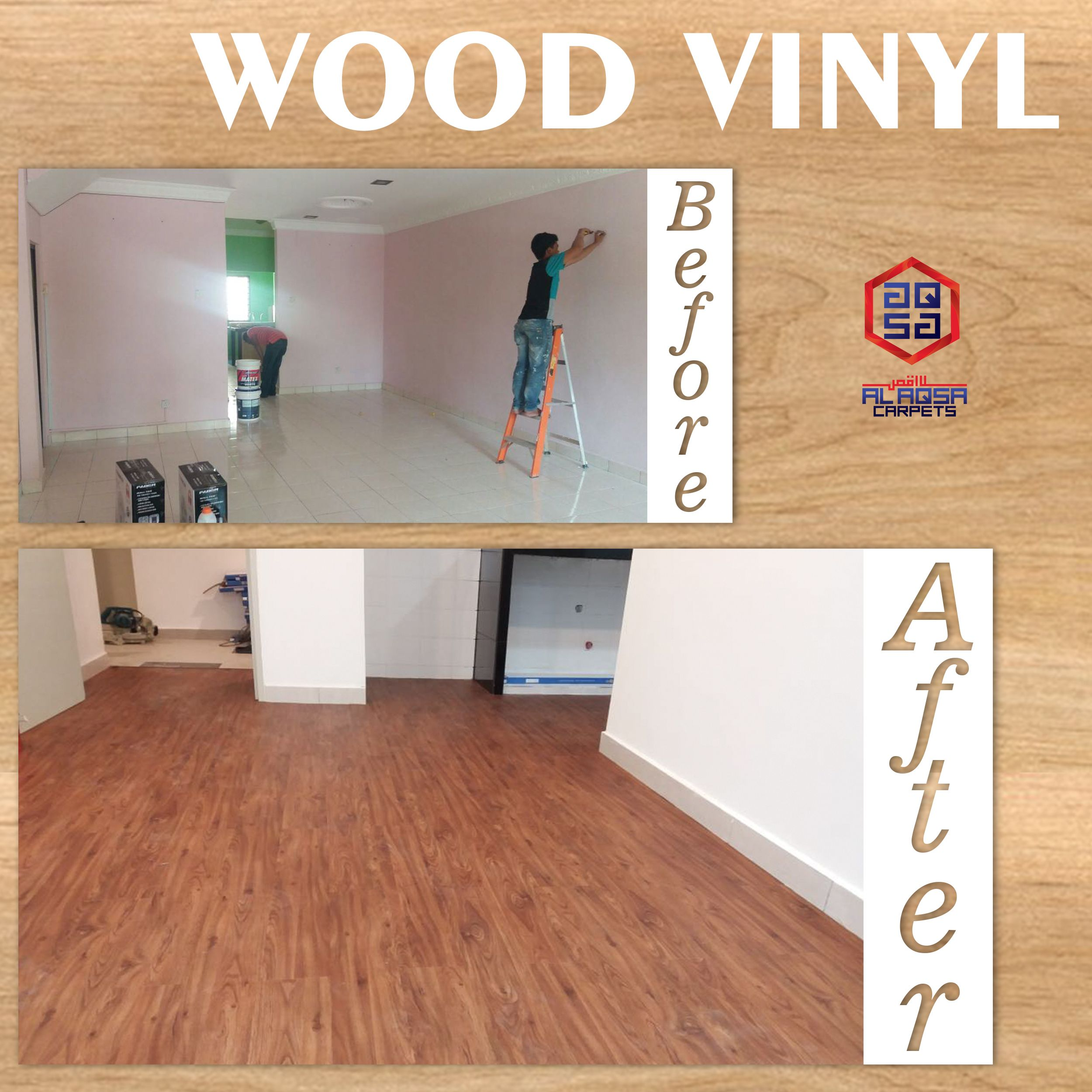 Our Recent Wood Vinyl Project Create A Refined Look With The Wood Vinyl Flooring Achieve An Authentic Wood Finish Wit Lantai Vinil Lantai Kayu Lantai