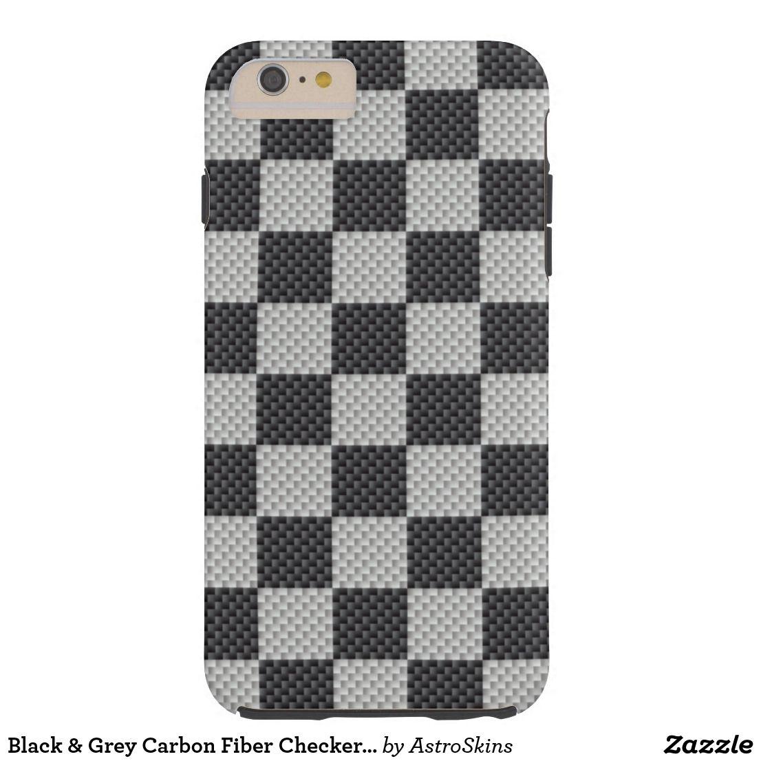Black grey carbon fiber checker board casemate iphone