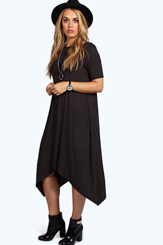 5fc92b3c5e1c1 Plus Moira Hanky Hem Swing Dress