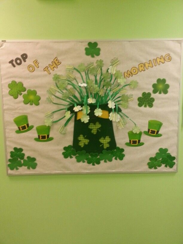 St. Patrick's day Bulletin board idea. | Bulletin boards ...