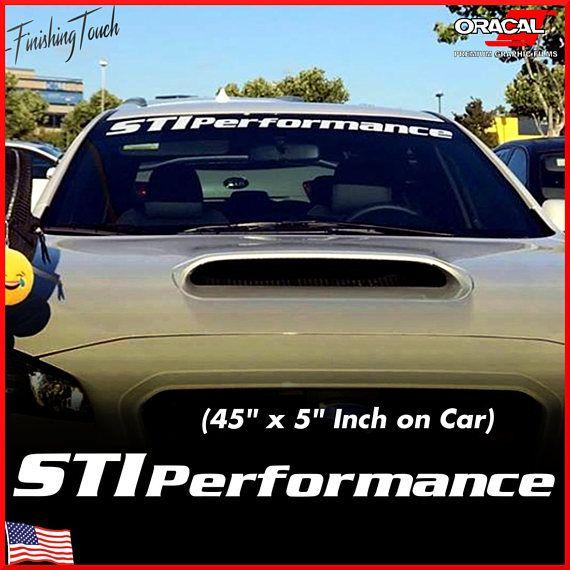 Subaru STI Decal Vinyl Windshield Banner STI PERFORMANCE ...