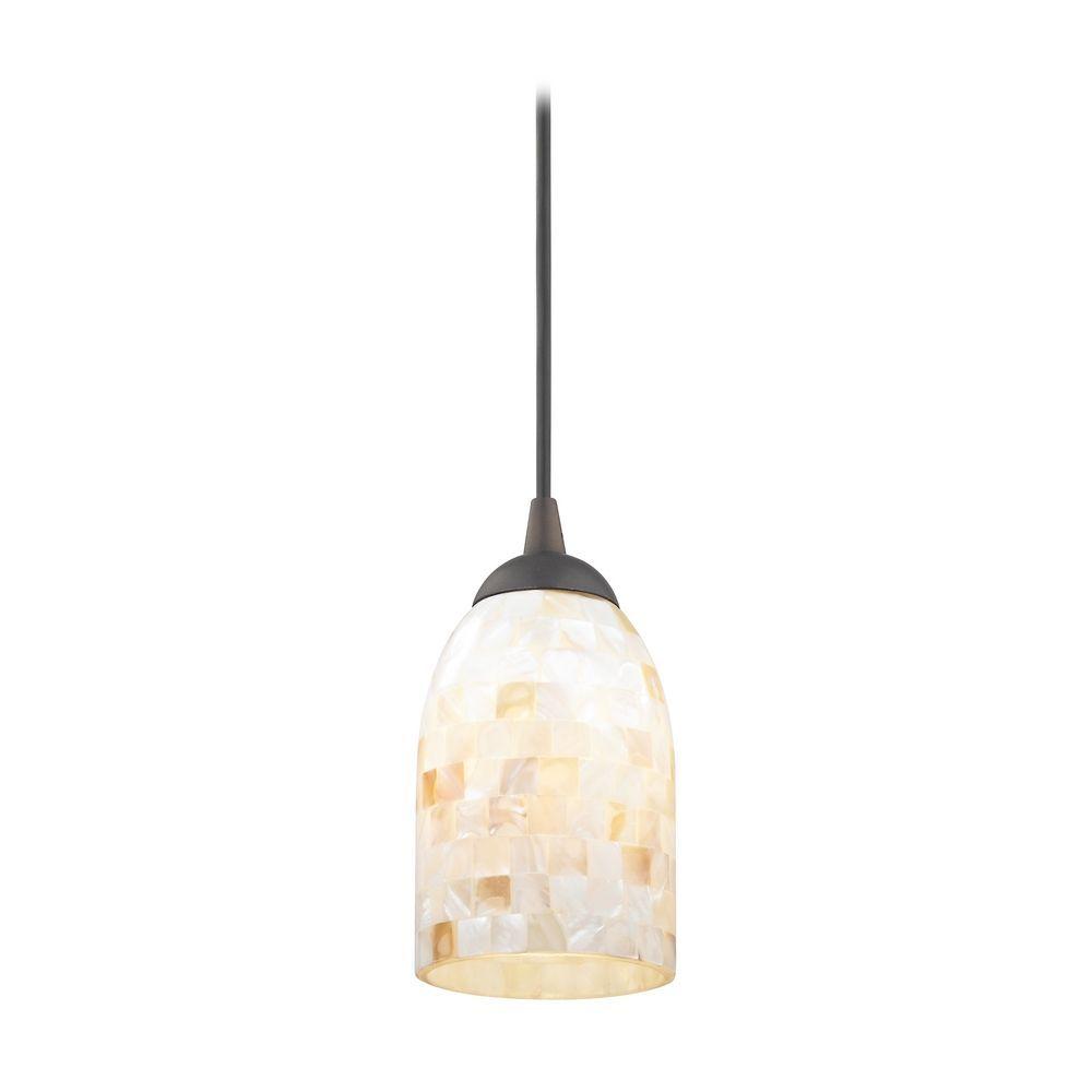 meletio design classics lighting mosaic minipendant light with dome shade in bronze finish 582