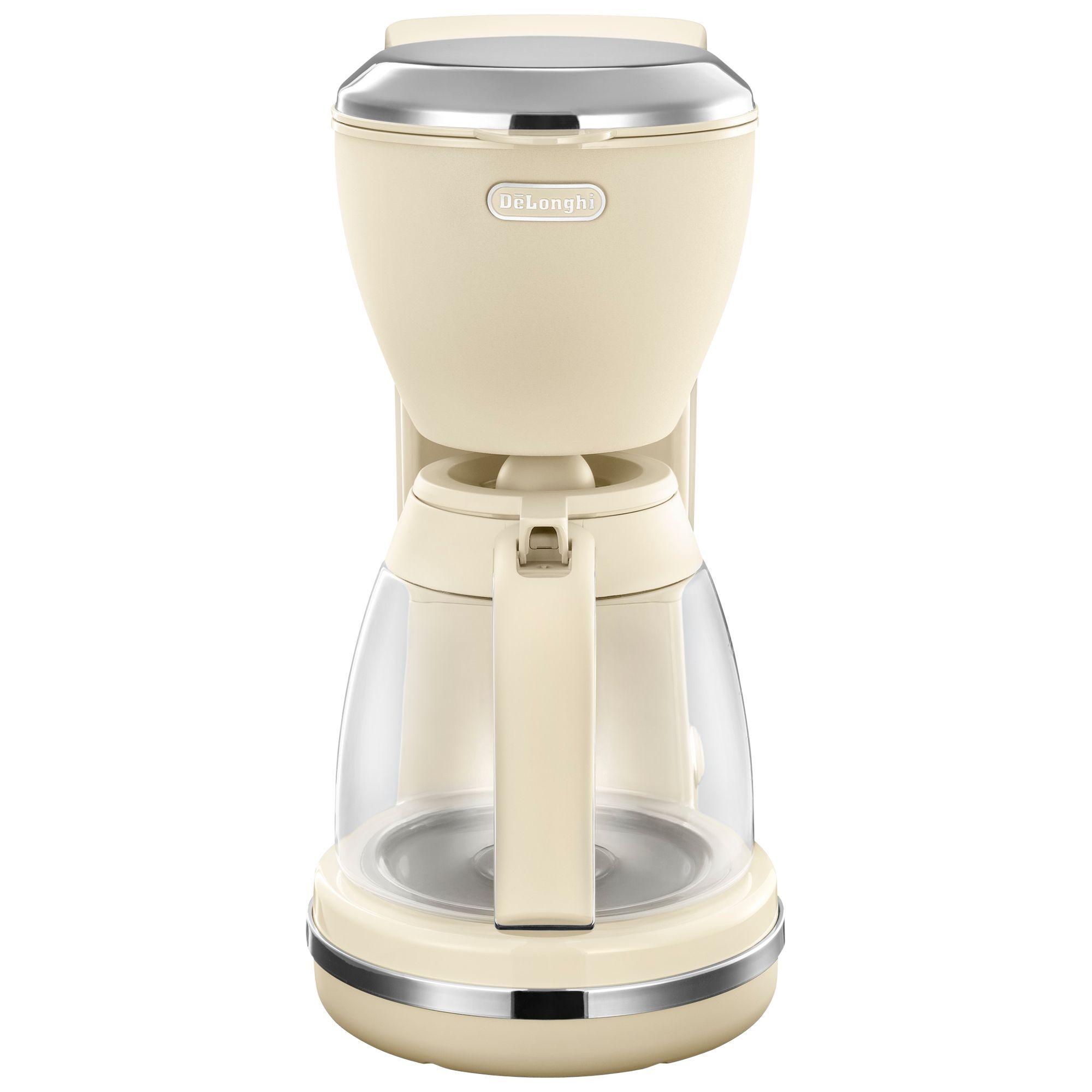 Delonghi Icmx210 Argento Flora Filter Coffee Maker Beige
