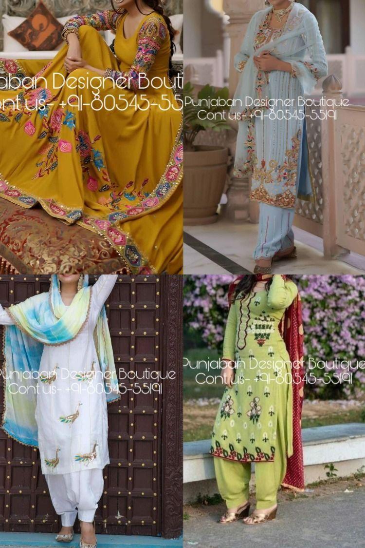 Buy Punjabi Suits Online In Latest Styles Trending In 2020 A Wide Range Of Punjabi In 2020 Salwar Suits Simple Punjabi Suits Online Shopping Salwar Suit Neck Designs