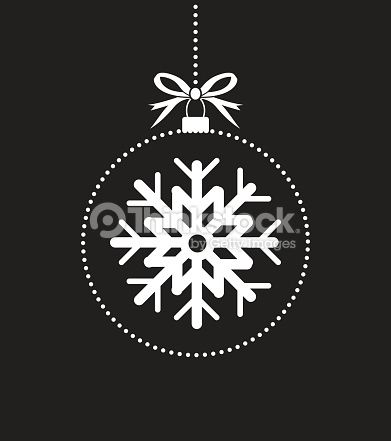 black and white christmas ball ornament