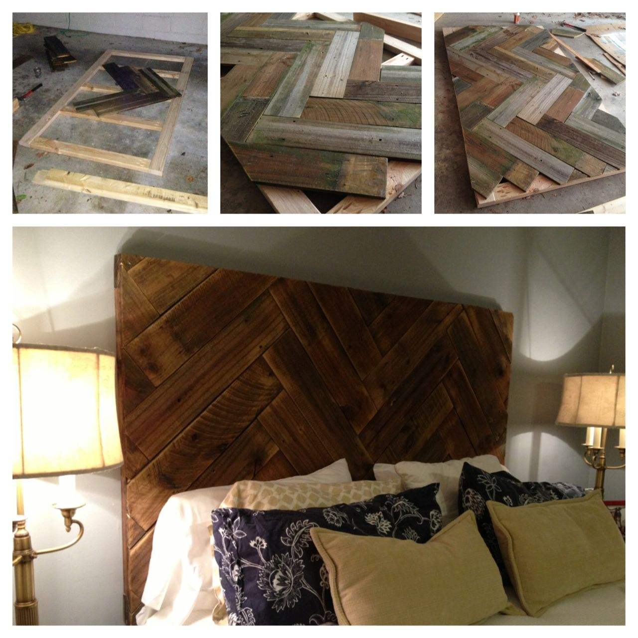 Diy wood headboard from old fence boards 1 cut fence for Different headboards