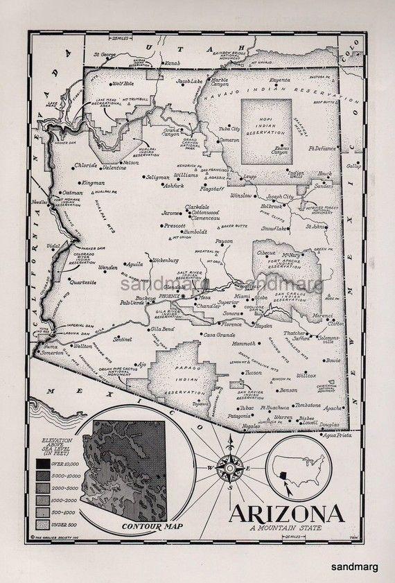 Map Of Arizona ArizonaAmber Visit Me At WwwArizonaAmber - Old us 80 arizona map