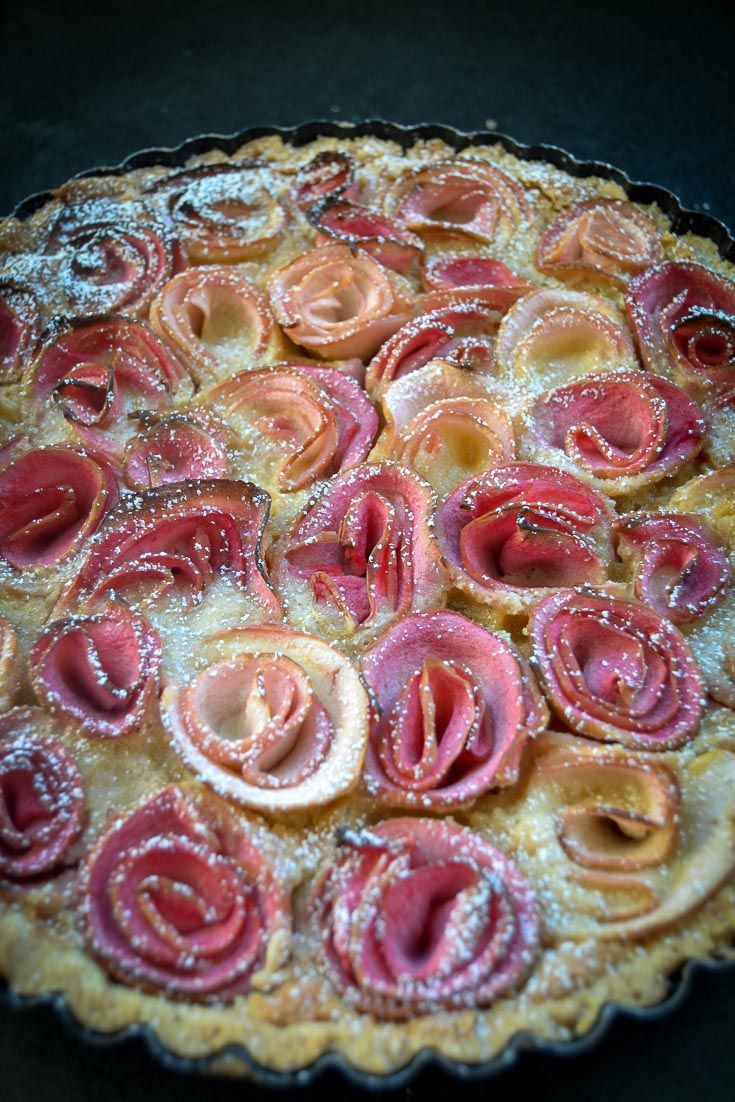 Photo of Apple rose tart recipes Apple rose in almond cream
