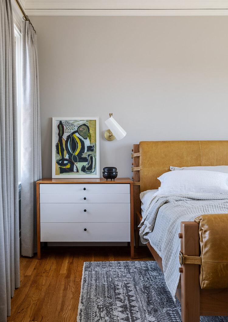 Nopa Christy Allen Designs Mid Century Modern Bedroom Vintage Bedside Ta Modern Master Bedroom Decor Master Bedrooms Decor Mid Century Modern Master Bedroom