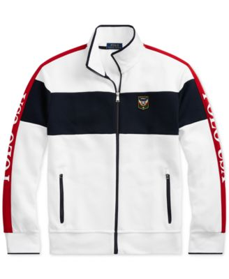 d72858b3 Polo Ralph Lauren Men's Double-Knit Track Jacket - White Multi XL ...