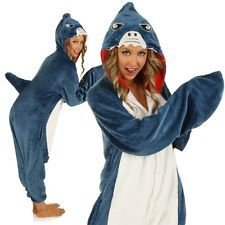 Adult Big Jaws Shark Onesie Costume Kigurumi Funny Fish