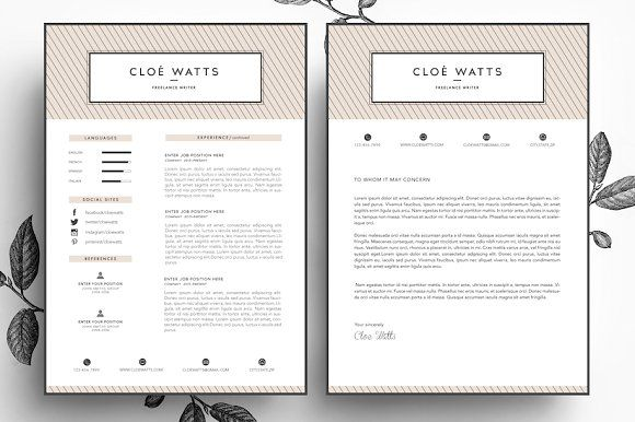 Resume and Business card template by Emilyu0027s ART Boutique on - resume business cards