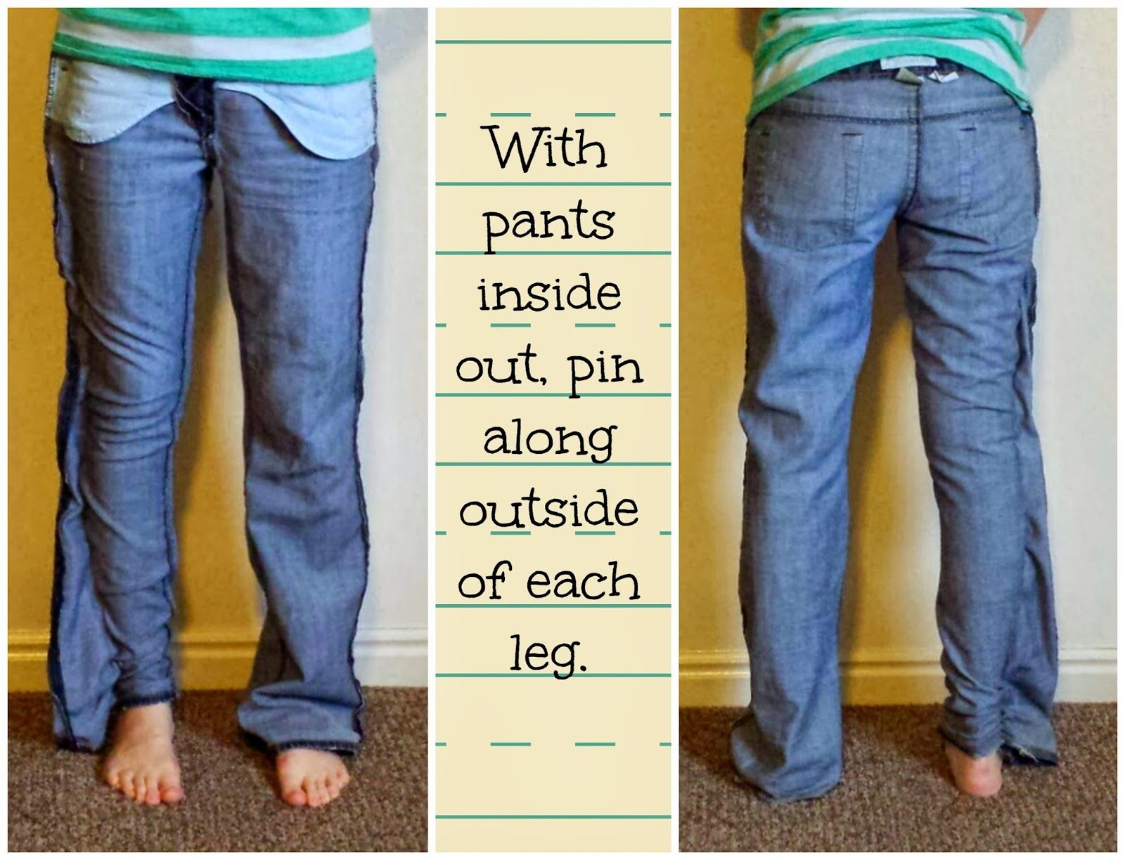 Give Your Old Jeans a Skinny Jean Makeover! Tutorial by Everything Springer A to Z