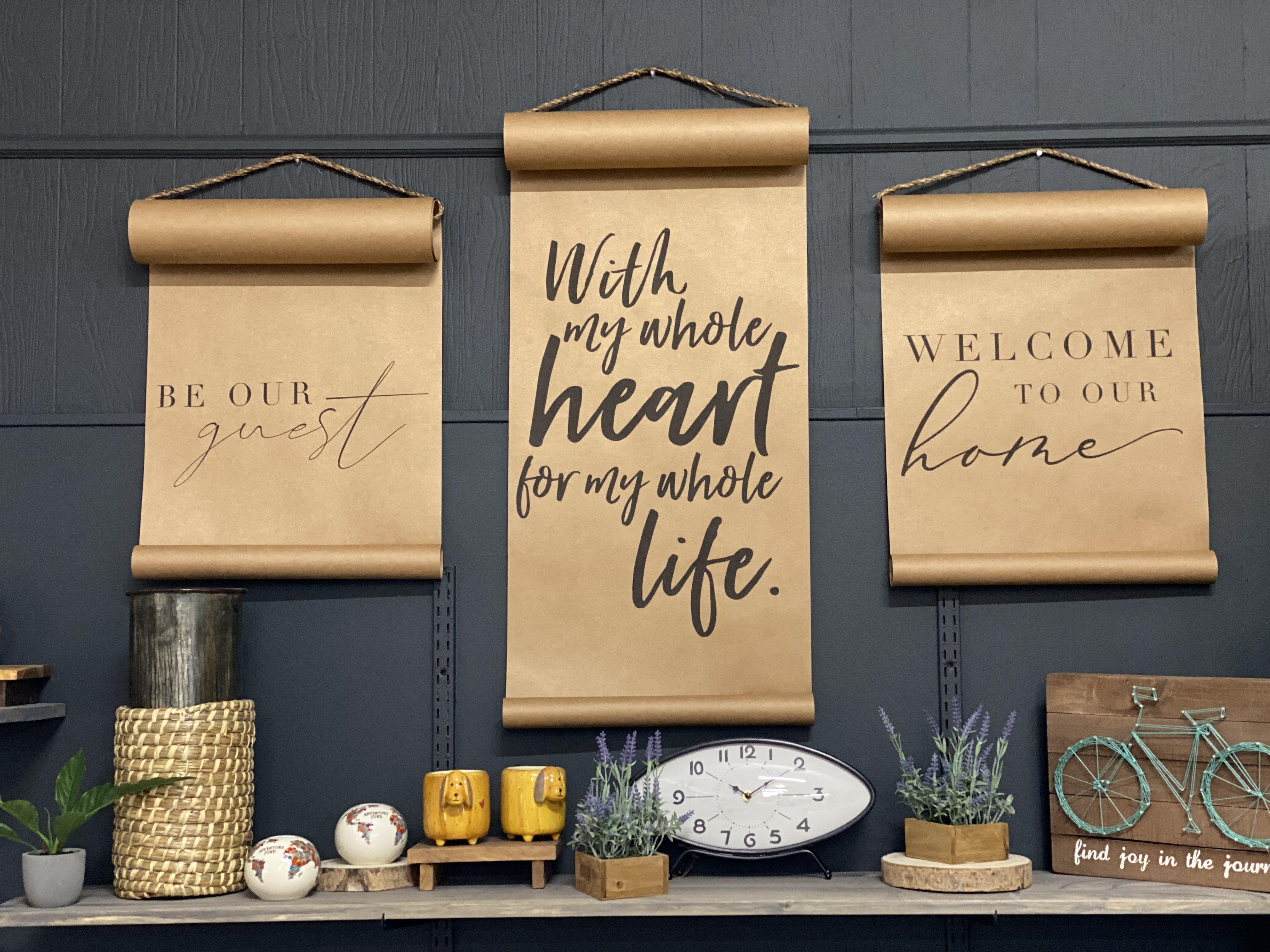 Kraft Paper Scrolls #homedecor #design #homeaccents #scrolls #kraftpaper #furniture