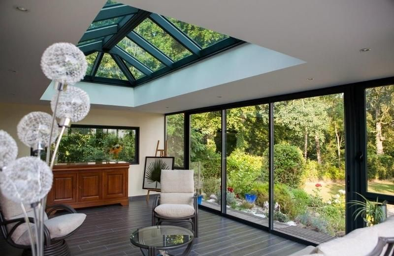 Extension maison Fenêtre Véranda - Verrière réalisé par MVA Menuiseries et Vérandas à Plouër ...