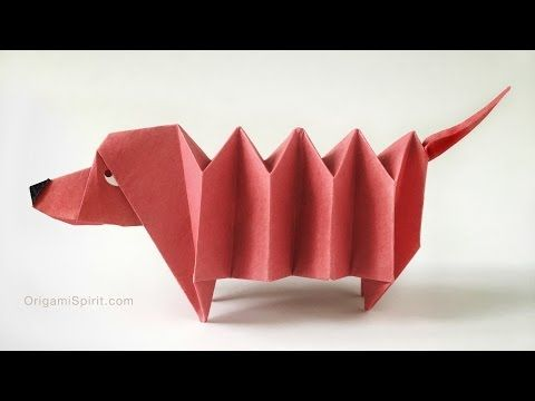 Origami Dachshund Dog Perro Salchicha Youtube Origami