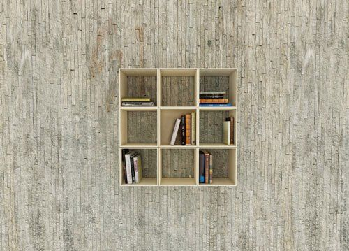 Interesting Square Bookshelf That Can Transform Into Different Shapes