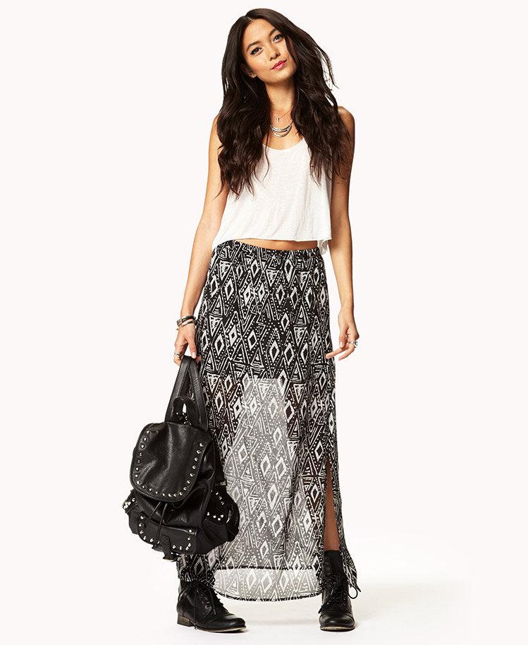 #Forever21                #Skirt                    #Free #Spirit #Maxi #Skirt                          Free Spirit Geo Maxi Skirt                                                    http://www.seapai.com/product.aspx?PID=51933