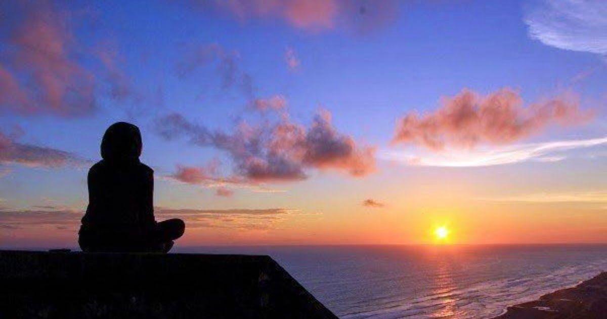 Foto Pemandangan Alam Senja Contoh Lukisan Pemandangan Di Tepi Pantai Waktu Senja Download Sunset Vectors Photos And Di 2020 Pemandangan Gambar Matahari Terbenam