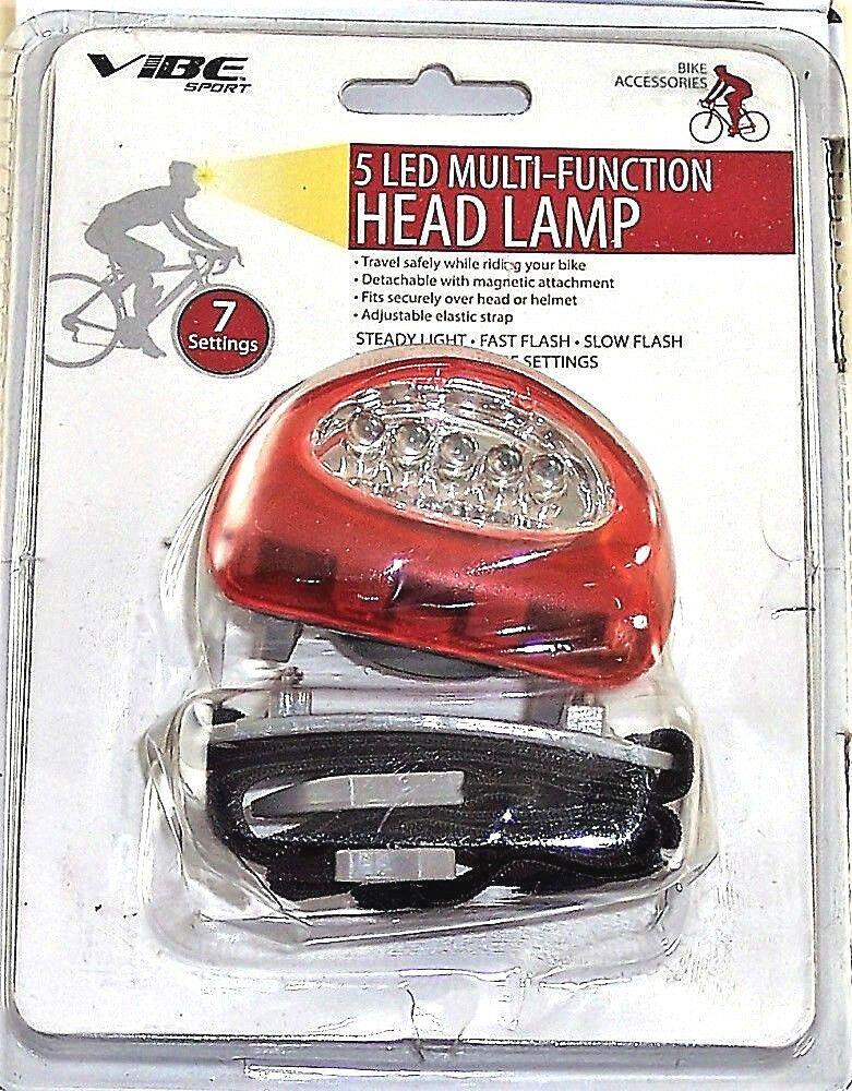 Headlamp Multi Function 5 Led Light Adjustable Head Strap New Vibe Led Headlamp Led Headlamp