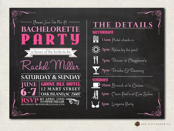 Bachelorette Invitation - Bachelorette Party Invitation ...