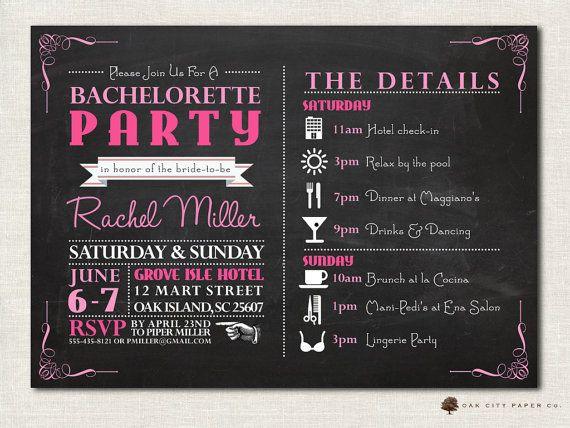 Bachelorette Invitation - Bachelorette Party Invitation