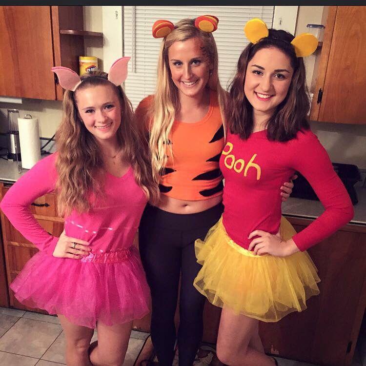 34cc31c2893f Winnie the Pooh. College. Tigger. Piglet. Costumes. Trio Halloween Costume.  DIY.
