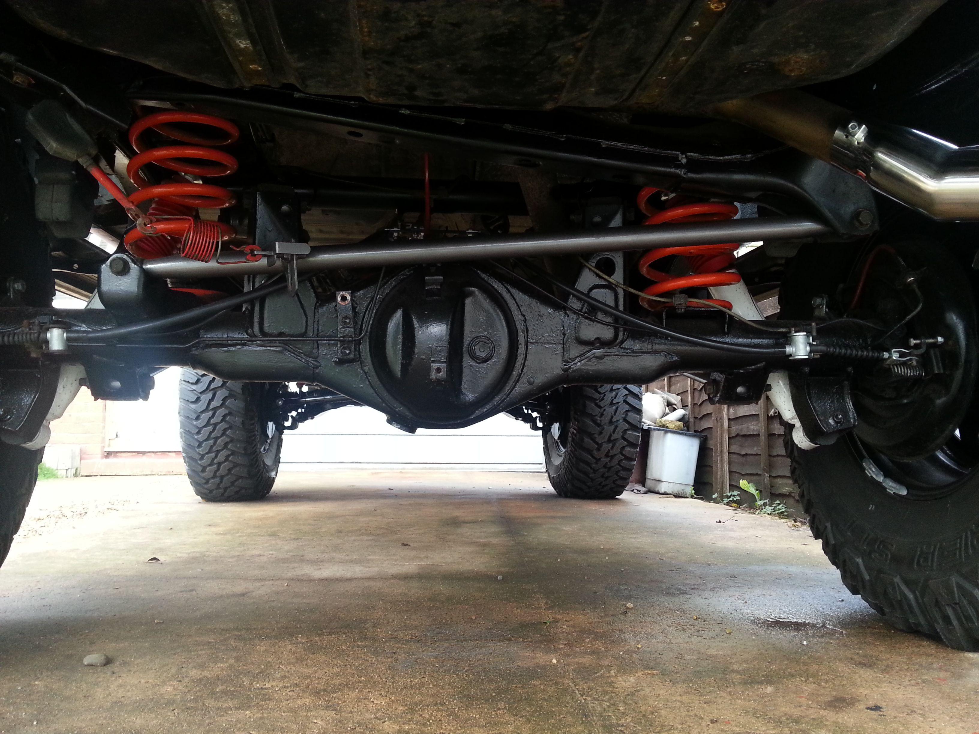 Custom Landcruiser Colorado Prado 95 Twin Cable Handbrake You Can See Seperate Cables Going To Each Of The Rear Wheels Making E Toyota Lc Prado Land Cruiser