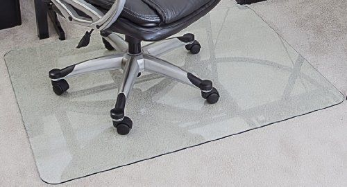 Myglassmat 36 X 48 Inch Tempered Glass Chair Mat For Carpet And