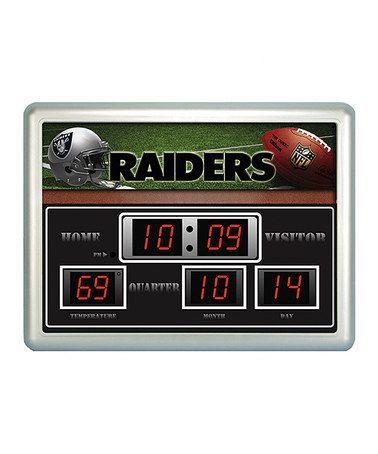 Take a look at this Oakland Raiders Scoreboard Clock/Thermometer by Evergreen on #zulily today!