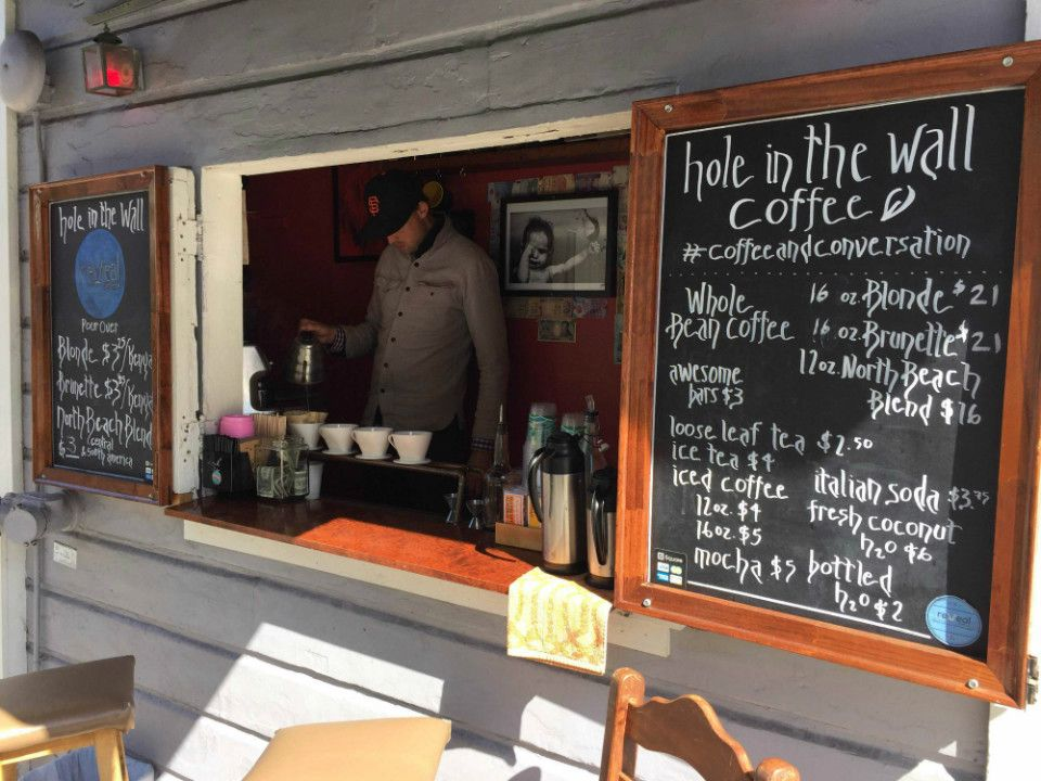 'Hole In The Wall' Fosters Sense Of Community With Sidewalk Coffee in North…