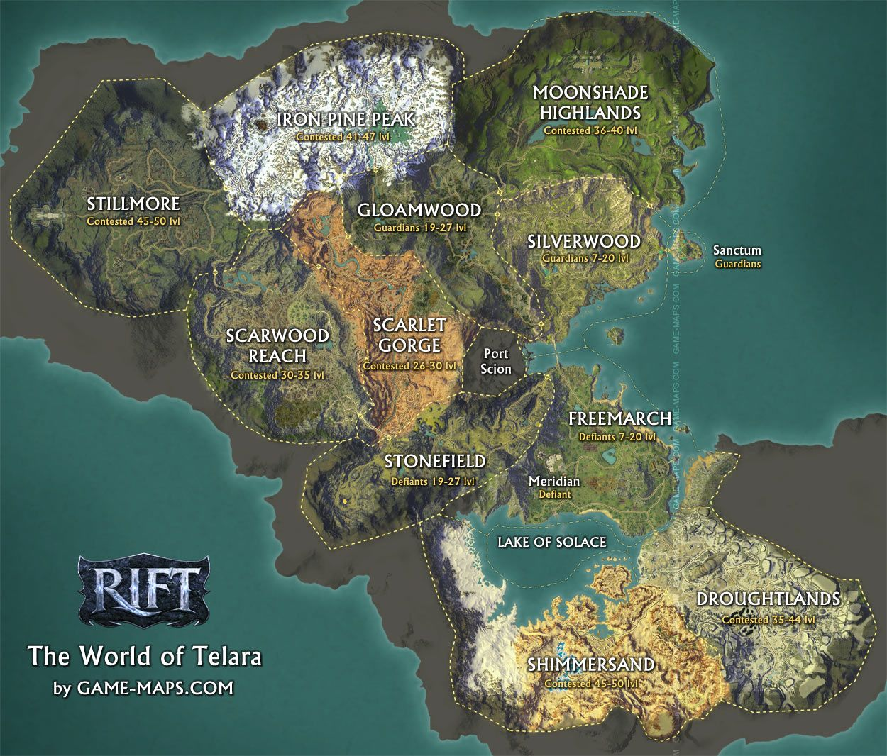 Rift the world of telara map by game maps fantasy maps rift the world of telara map by game maps gumiabroncs Images