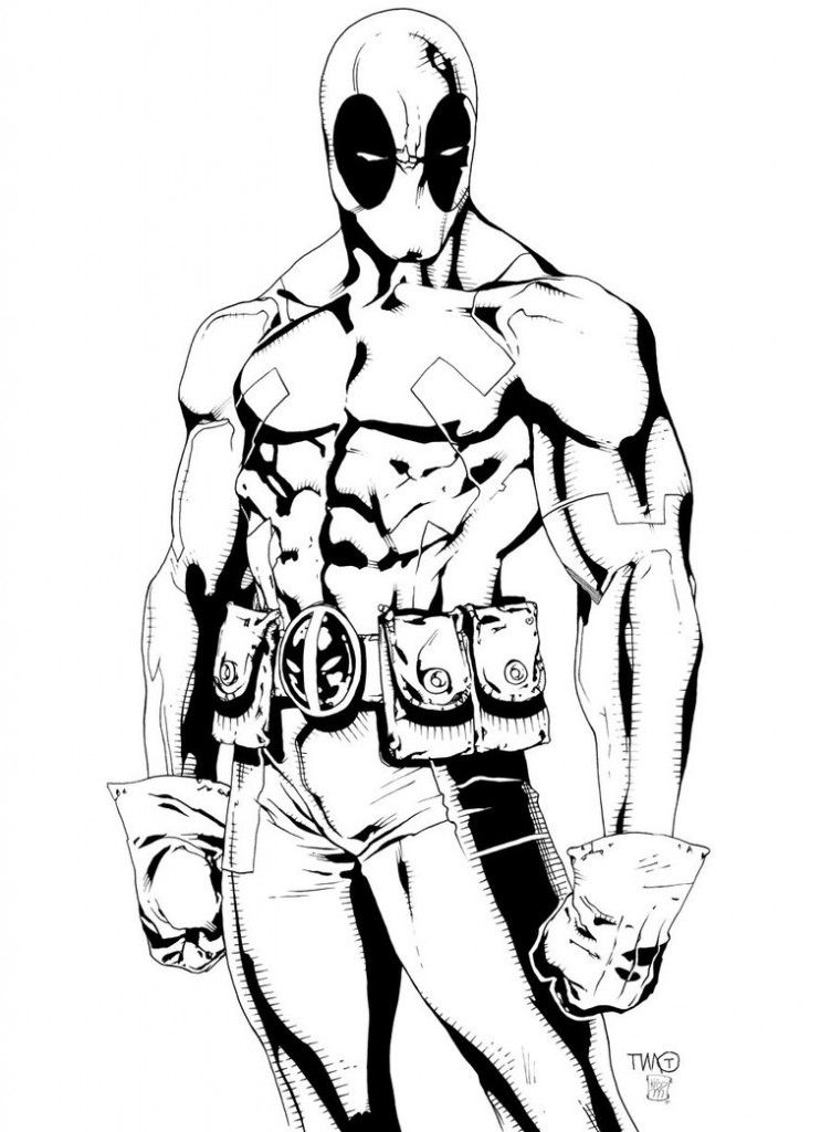 Free Printable Deadpool Coloring Pages For Kids | Pinterest | Dibujo