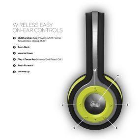 99a7a11e044 Monster iSport Freedom Wireless Bluetooth On Ear Headphones (Green ...