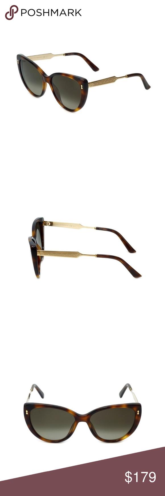 f0cf0ecc5ef Gucci Damascato Havana Gold Cat Eye Sunglasses Brand  Gucci Model GG 3804 S  CRXHA