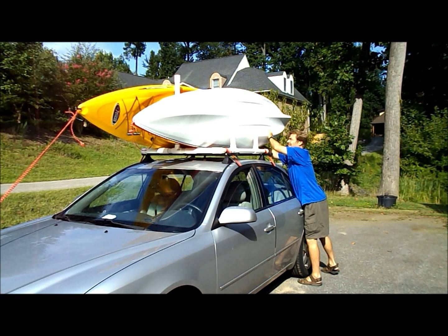 Pvc Dual Kayak Roof Rack For 50 Getting In Shape