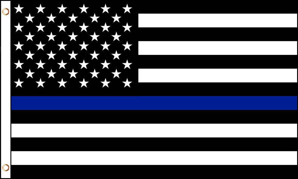Details About Usa Thin Blue Line 3x5ft Flag Poly Blue Line Flag Blue Line Thin Blue Lines