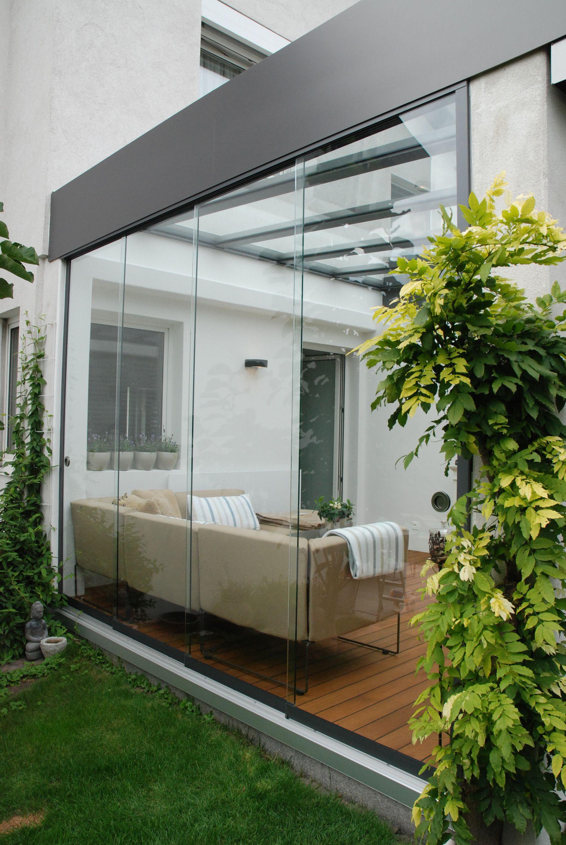 Schiebetursysteme Fur Wintergarten Terrazza Con Giardino Terrazzo Arredamento