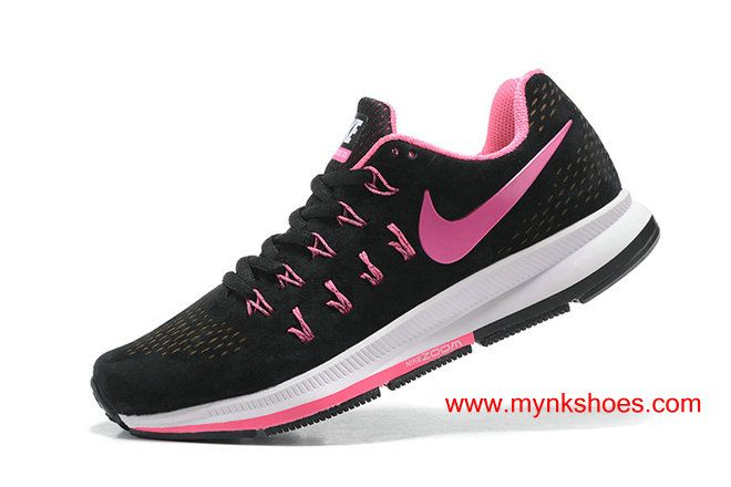 8779dfdc62155 Nike Air Zoom Pegasus 33 Suede Black Peach-red Women s Running Shoes ...