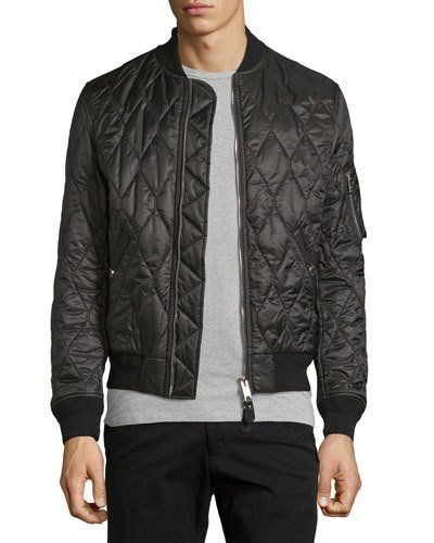 1bd689ae Grandy Lightweight Quilted Bomber Jacket Black | *Neiman ...