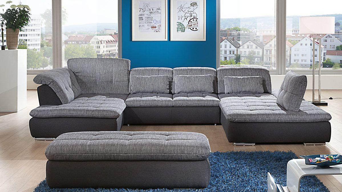 Ecksofa in UForm als gemtliche Wohnlandschaft couch