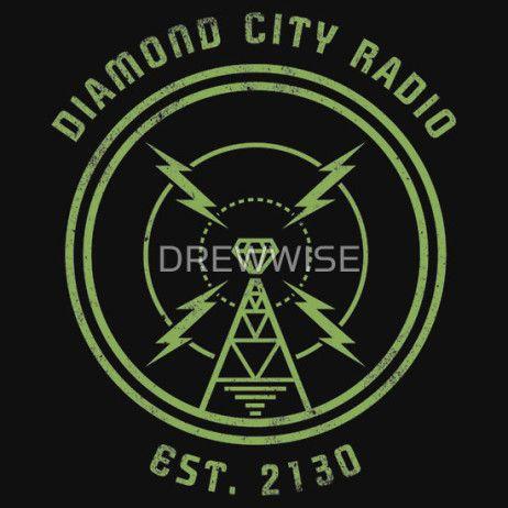 Diamond City Radio Diamond City Radio Video Game T Shirts